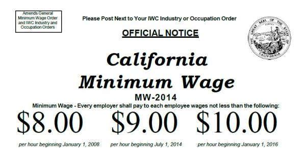 CA Minimum Wage