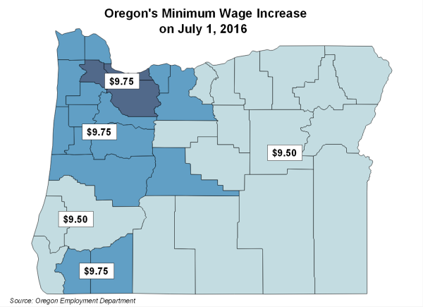 Oregon July 1 2016 map